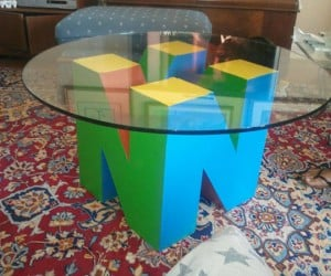 Nintendo 64 Coffee Table Needs Matching 64DD Shelf