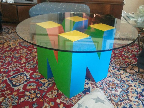nintendo 64 n64 coffee table by keenan bosworth