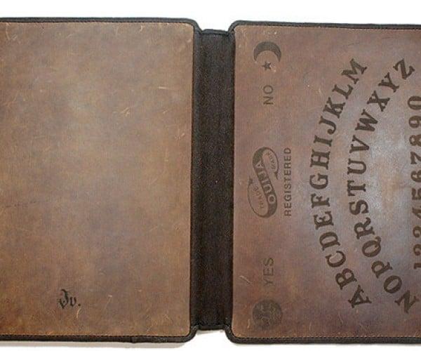 Ouija iPad Leather Sleeve: iHear Dead People