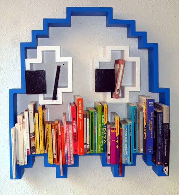 pac man bookshelf 1