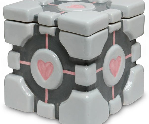 Portal Companion Cube Cookie Jar Will Never Threaten To Stab You, But May Make You Fat