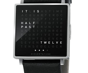 QLOCKTWO W Wristwatch Puts Time into Words