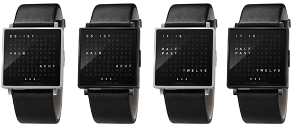 qlocktwo w watch models