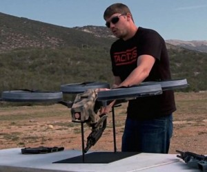 Death from Above: Quadcopter Modified to Carry Machine Gun