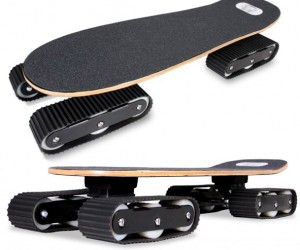 Rockboard Descender Skateboard Moves with Tank Treads