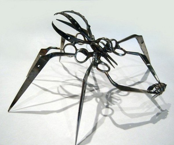 Confiscated TSA Scissors Turned into Creepy Spiders