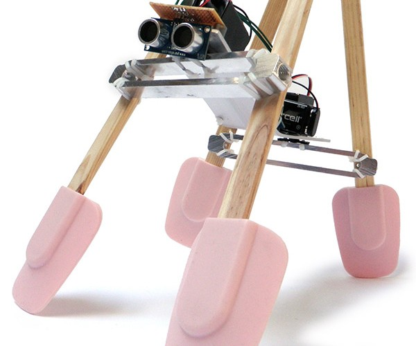 Spatula Robot Walks and Wobbles, But Can't Fix You Breakfast