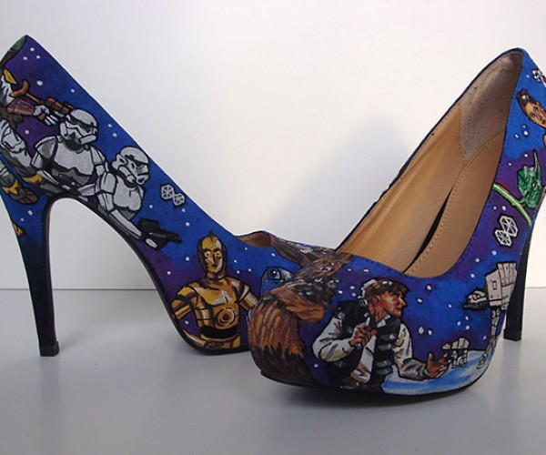 Star Wars Heels Aren't Ideal For Hiking Through Hoth's Snowy Surface