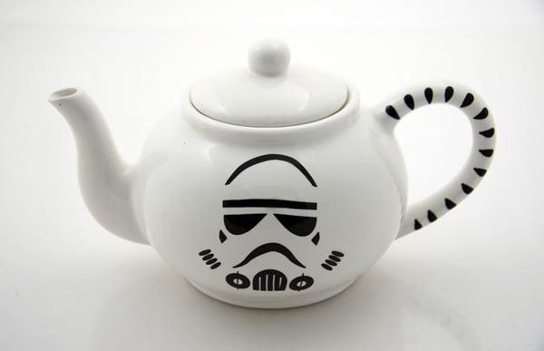 stormtrooper tea pot lenny mud open star wars homage
