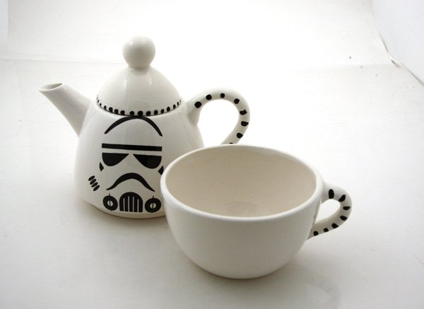star wars stormtrooper teapots and mugs  even the empire needs tea time