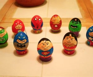 Superhero Easter Eggs Ready to Deliver a Basket Full of Hurt