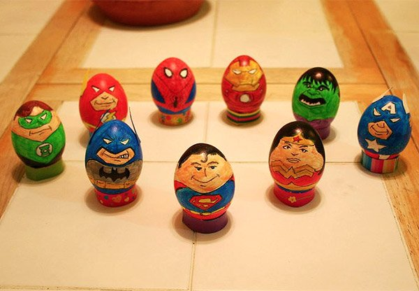 superhero easter eggs 1