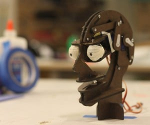 TJ* Animatronic Puppet Puts a Robot Head on Your Desk
