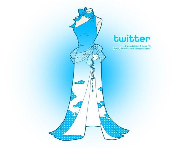 Your Favorite Websites as Dresses: Lookin' Good, Facebook!