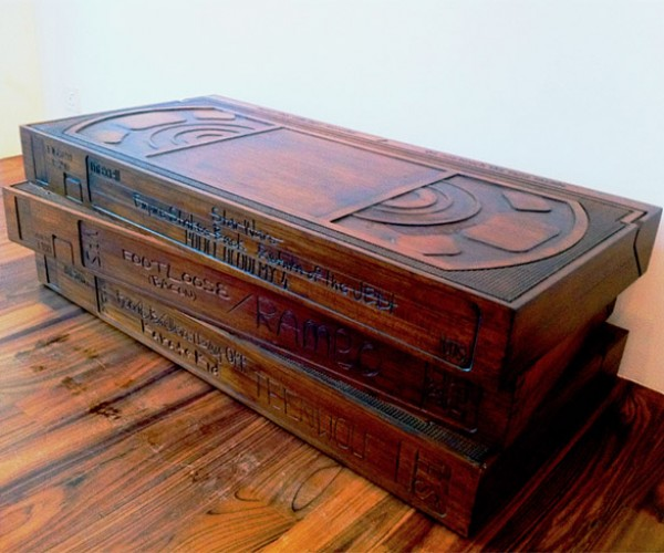 VHS Coffee Table: Be Kind, Rewind (and Keep Your Feet off of It!)