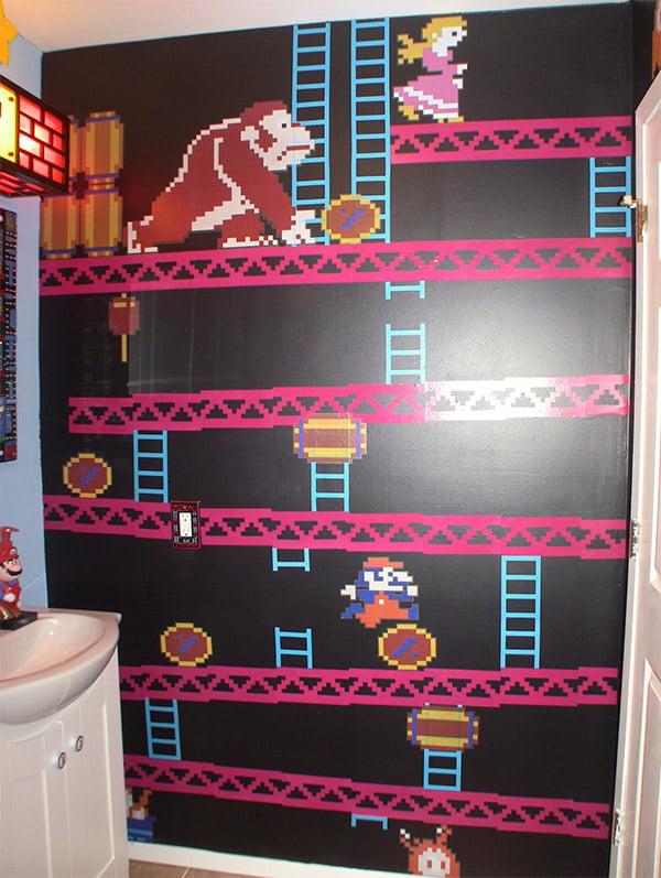Gamer Bathroom Is Flush With Pixel Art Technabob