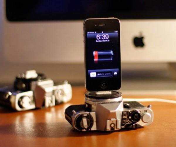 Vintage Cameras Make Good Looking iOS Docks