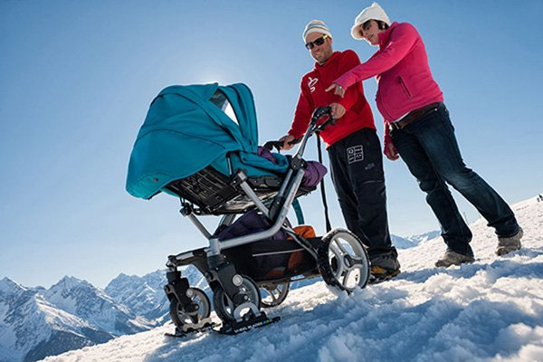 wheelchair wheelblades mobility snow ice buggy
