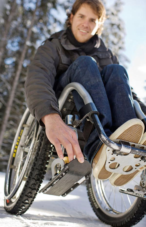 wheelchair wheelblades mobility snow ice in situ