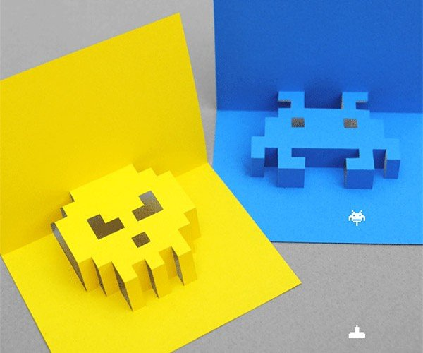 8-Bit Pop Up Cards Invade Birthdays and Other Special Occasions