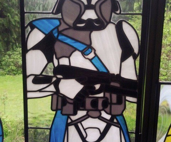 Clone Trooper Stained Glass Window is One of a Kind