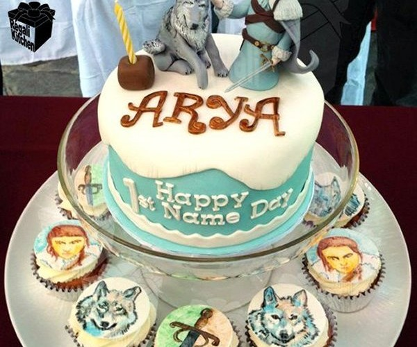 Game of Thrones Arya Stark and Nymeria Cake: Happy Nameday to You!