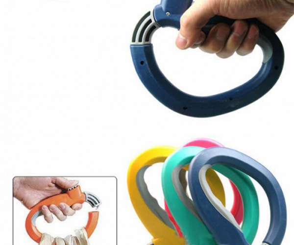 Heavy Shoppers, You Need the One Trip Grip Bag Holder to Save Your Fingers
