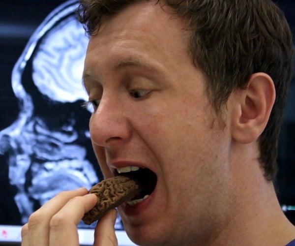 Man Eats Own (Chocolate) Brain