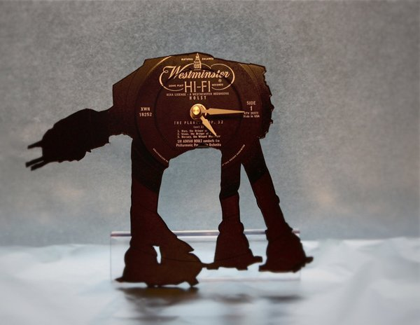 at-at- vinyl clock star wars notbylaser