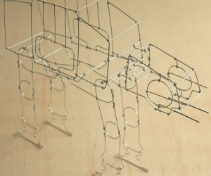 AT-AT Wire Sculpture: Get Bent on Hoth