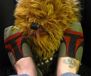 Hand-Painted Boba Fett Shoes for Your Boba Feet