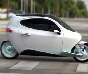 Lit Motors C-1: Electric Scooter with a Roof?