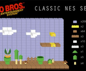 Classic Nintendo Scenes as LEGO Sets