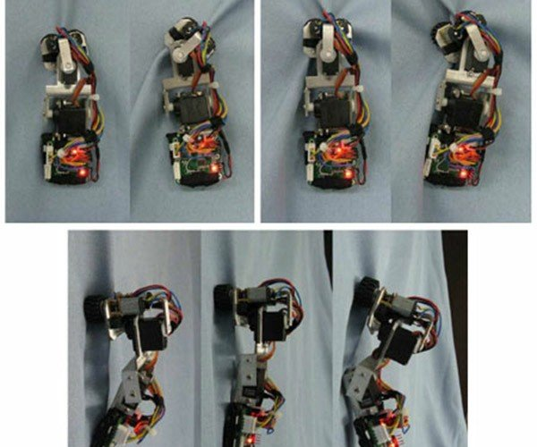 Clothbot Robot Climbs Pants with Ease