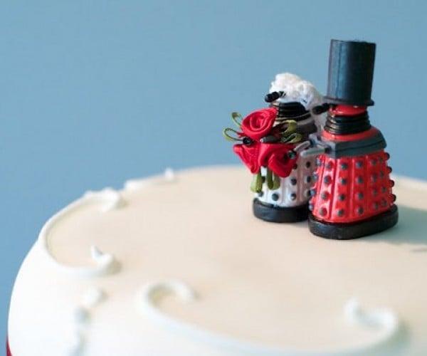 Daleks Land on Top of Wedding Cake