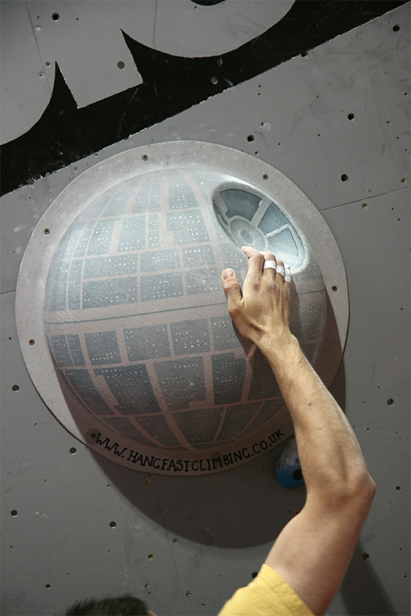 death star climbing wall