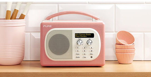 evoke mio digital radio pure pink