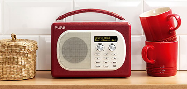 evoke mio digital radio pure red