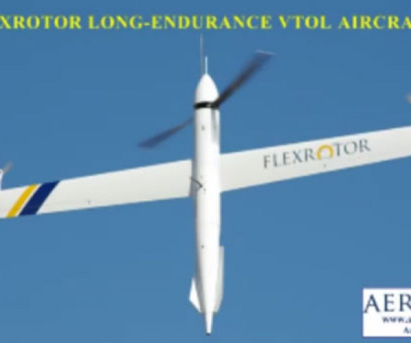 Flexrotor UAV Takes off Like a Helicopter, Flies Like an Airplane