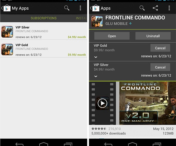 Google Opens In-App Subscriptions for Google Play