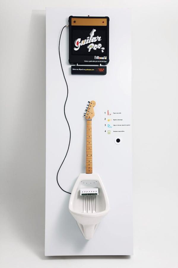 guitar pee billboard urinal by almapbbdo
