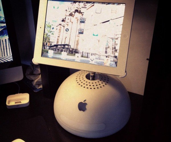 Turn an Old G4 iMac into an iPad Stand