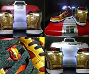 Iron Man Dunk High Sneakers are Hard to Assemble