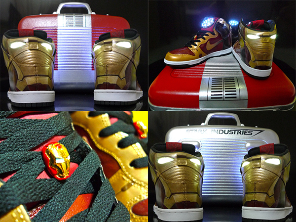 iron man dunk sneakers by morethanarttowear