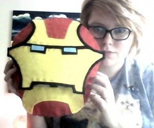 Iron Man Helmet Pillow Conceals Tony Stark Underneath