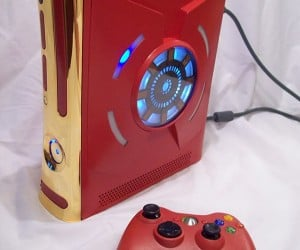 Iron Man Xbox 360 Case Mod: Blue Ring of Life