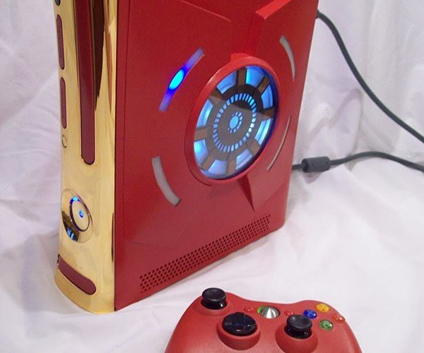 iron man xbox 360 case mod by zachariah cruse