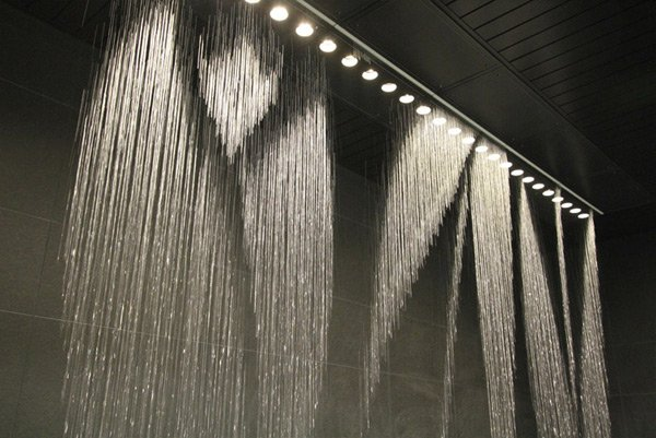 koei osaka station city mall water fountain clock art