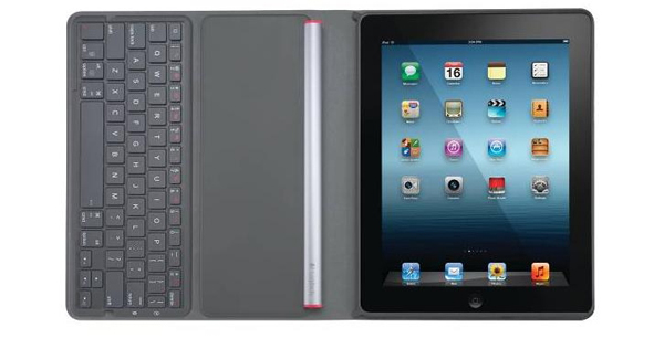 logitech solar folio keyboard ipad open straight