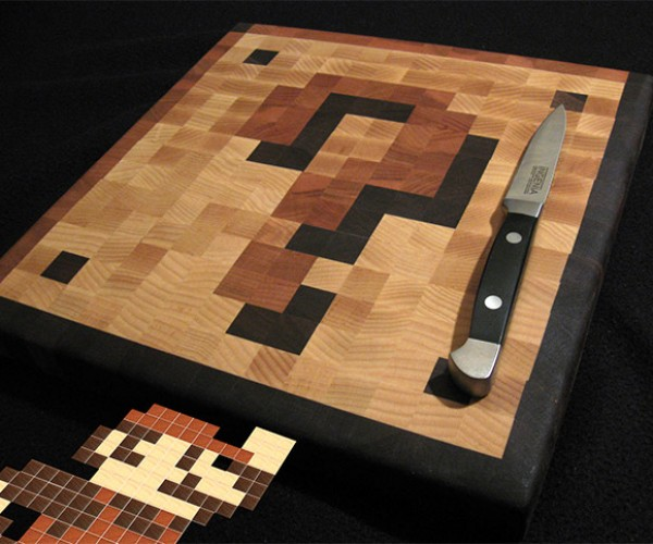 Question Mark Block Cutting Board 1-Ups Your Kitchen